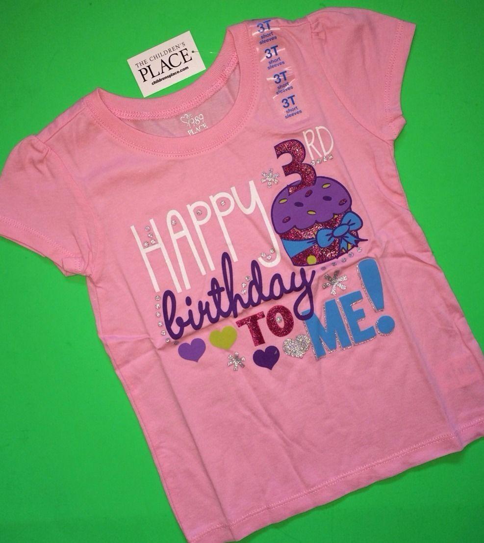 Happy 3rd Birthday To Me Baby Girls Shirt 4t 3 Years Gift SS Pink