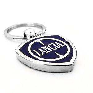 Portachiavi-Auto-Logo-Lancia-in-Metallo-Stemma-Resinato
