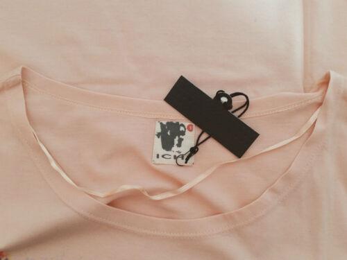 """/""""ICHI /""""t-shirt Femmes taille s-m saumon avec colorée pression neuf avec étiquette"""