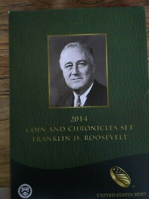2014 Franklin D Roosevelt Coin /& Chronicles Set Dime /& Dollar Silver Proof