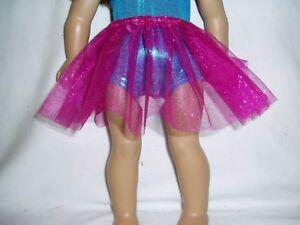 Sparkly-Fuchsia-Basic-Tutu-18-034-Doll-Clothes-Fits-American-girl-dolls