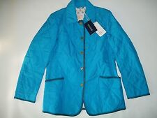 DOONEY & BOURKE Logo Lined Quilted Blue Barn JACKET Womens Sz Extra Small XS NEW