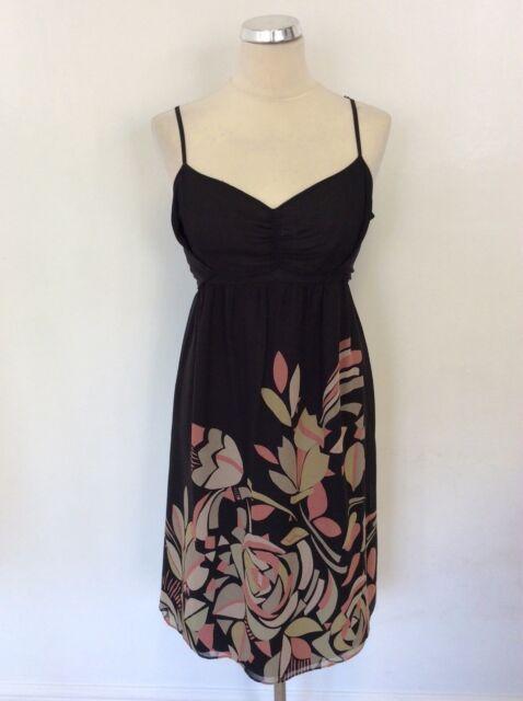 983634c5a Black Silk Dress Ted Baker Size 4 (uk Size 14 ) for sale online