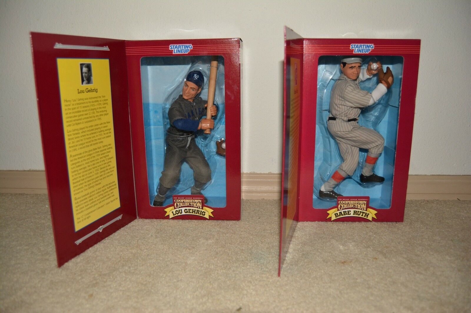 Babe Ruth & Lou Gehrig Starting Lineup CoopersTown Collection Figures Free Ship