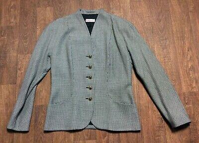 1980s Vintage Karl Lagerfeld Bianco E Nero Blazer/giacca Taglia Uk 14-mostra Il Titolo Originale