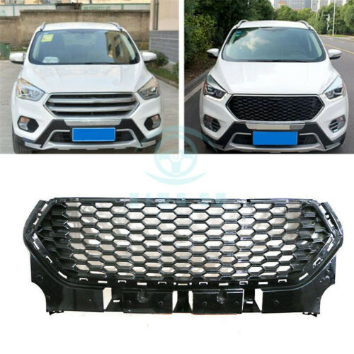 For Ford Escape 2017 Black Plastic Front Grille Honeycomb Grill Molding Trims