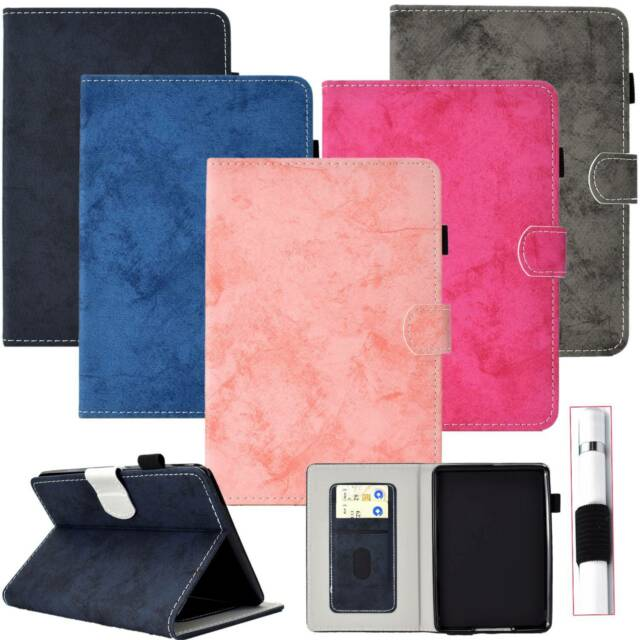 brand new 6037b 42982 Plain Design Book Slim Fit Leather Case Flip Cover Stand For iPad Samsung  Tablet