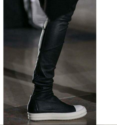 Ladies Retro Round Toe Pull On Sneakers Over The Knee Slim Boots Sport Shoes hot