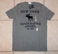 Abercrombie Boys Small Muscle Fit Moose Handcrafted Apparel Ss T-shirt