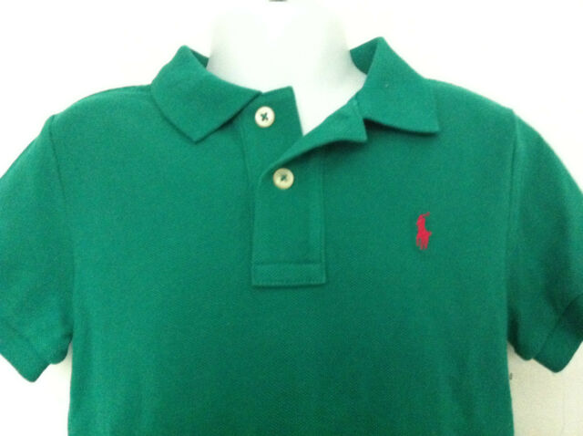 Green Solid Boys Lauren Size Shirts Kids 4t Ralph T Polo Short Baby Sleeve Yf76ybgv