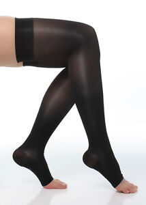 f28f6e5f6c Image is loading Sheer-Compression-Stockings-Thigh-High-20-30-mmHg-