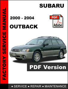 2000 subaru outback maintenance manual