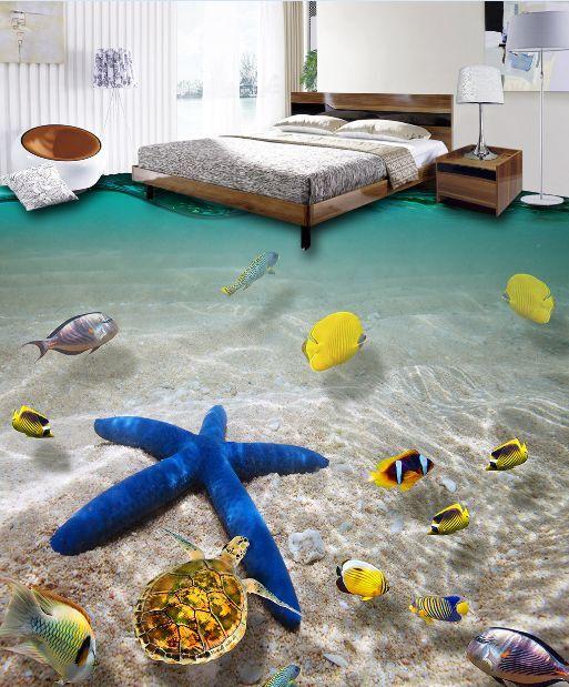 3D Blaues Meer star 2667 Fototapeten Wandbild Fototapete BildTapete Familie DE