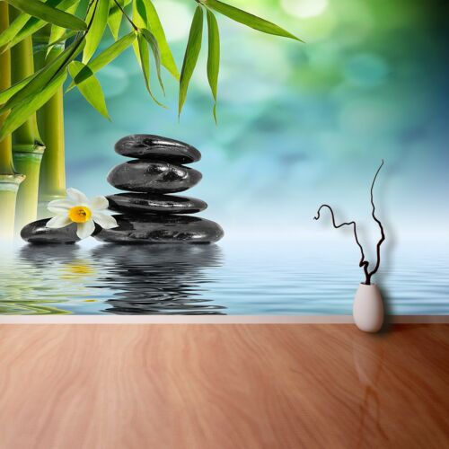 Non woven Wall Mural Photo Wallpaper Poster Picture Image Zen Stones