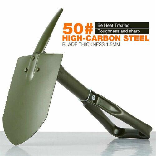 Army Military Folding Spade Shovel Pick Axe Camping Metal Detecting Mini Tool UK