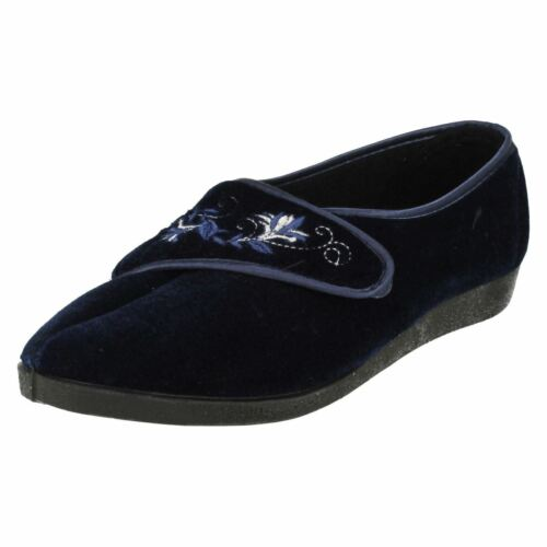 Ladies Navy//Purple Four Seasons Slippers UK Sizes 3-8 Mary
