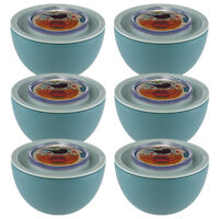 6 Aladdin Food Storage 20oz Bowls Containers Twist Lock Lids Leak Proof Airtight