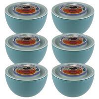6 Aladdin Food Storage 20oz Bowls Containers Twist Lock Lids Leak Proof Airtight on sale