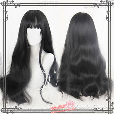 Daily Lolita Mixed Elegant  Harajuku Gothic Black Gradient Long Curls Hair Wig ¥