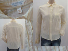 Abercrombie&Fitch Bluse Hemdbluse Girl langarm gelb gestreift 40 L Top Zustand
