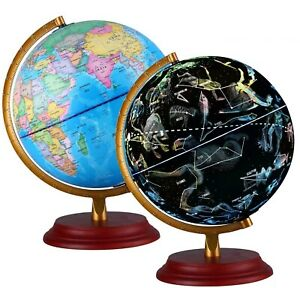 Details about World Light Up Globe Illuminated Earth Lamp Constellation Cable Free Night Desk
