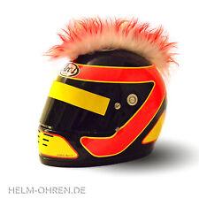 Helmirokese/ Helm Punk  Iro/ Irokese/ Helmaufsatz -für Motorradhelm -Rot  - Weiß