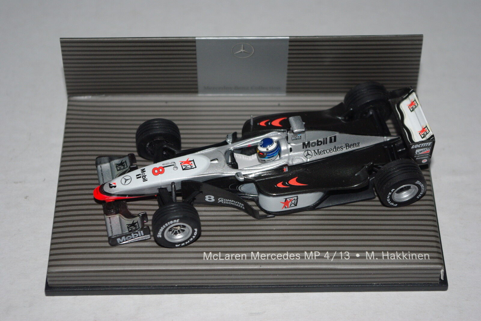 Minichamps F1 1/43 MCLAREN MERCEDES MP4/13 Mika Hakkinen-Dealer Edition