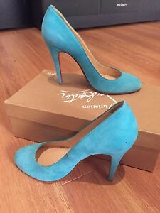 info for 32297 a0a41 Details about Christian Louboutin Teal Suede Pigalle (org $695)- Size 361/2