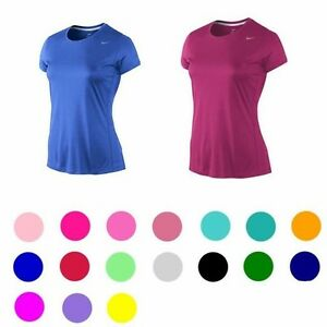 Nike-Dri-Fit-Ladies-Womens-Fitness-Running-Short-Sleeve-T-Shirt-Gym-Sports-Top