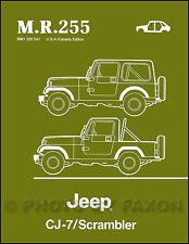 1984 1985 1986 Jeep CJ7 Body Repair Shop Manual Scrambler CJ 7 Renegade Laredo