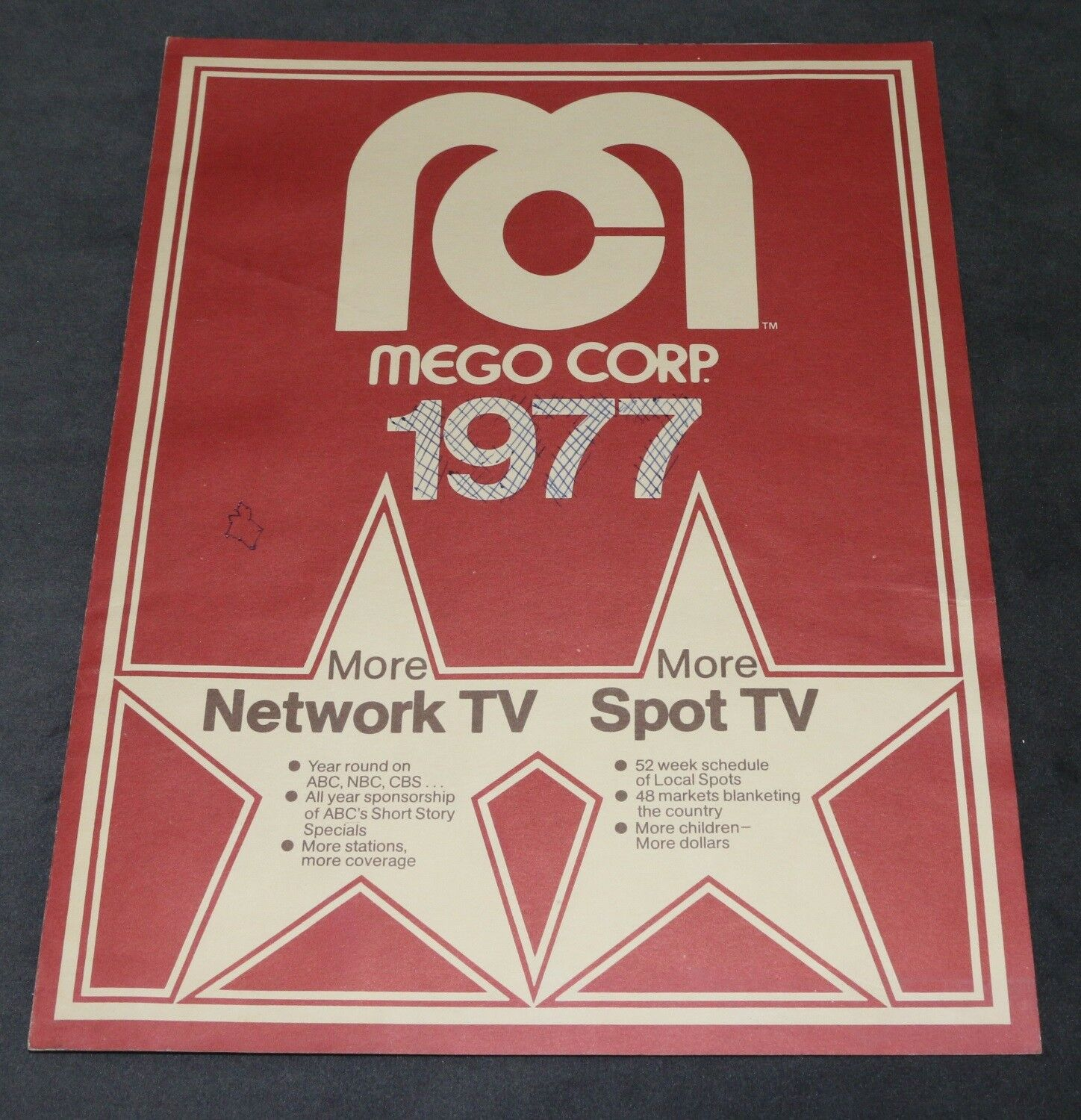 Mego 1977 Network TV Promotions Impressions Pamphlet WGSH Star Trek Original