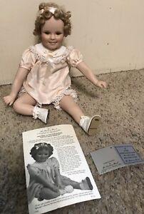 Shirley-Temple-034-Little-Miss-Shirley-Porcelain-Doll-by-Danbury-Mint