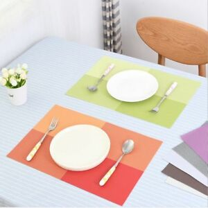 Western-Kitchen-Tableware-Dinner-Table-Mat-Bowl-Place-Mat-PVC-Tableware-Pads