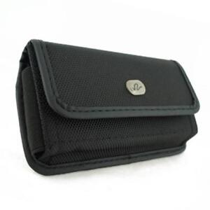 BLACK-RUGGED-CANVAS-CASE-COVER-PROTECTIVE-POUCH-BELT-HOLSTER-D70-for-CELL-PHONES