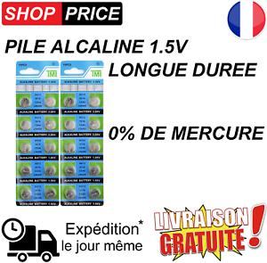 Type AG13 LR44 LR1154 357 LR41 LR43 20 Piles bouton alcaline 1.5V 0/% Mercure