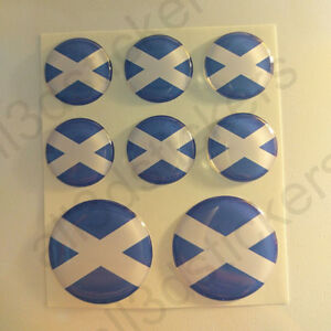 Pegatinas-Escocia-Pegatina-Bandera-Escocesa-Redondas-3D-Vinilo-Adhesivo-Relieve