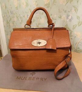 bb7d035eec Image is loading Mulberry-SUFFOLK-Shrunken-Calf-Ginger-Leather-Bag-MEDIUM