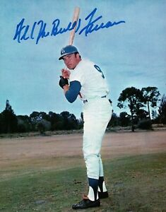 Al-The-Bull-Ferrara-Signed-8X10-Photo-Autograph-Dodgers-Field-Top-Auto-COA