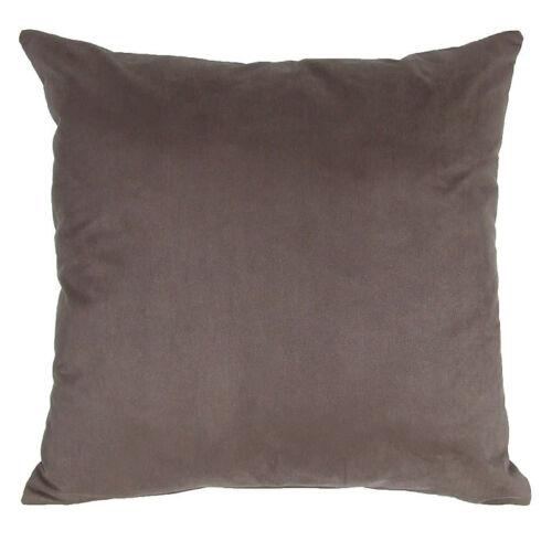 2 tailles disponibles Brown faux daim coussin décoratif complet avec interne