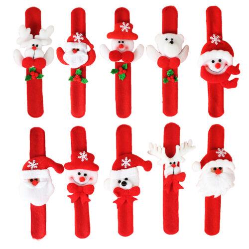 Xmas Santa Claus Bracelet Christmas Circle Wrist Bangle Gift for Girl 5 Patterns
