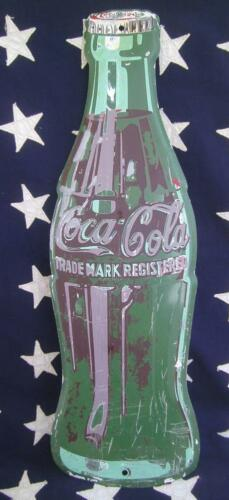 DIECUT ORIGINAL COCACOLA COKE BOTTLE ADVERTISING SIGN GROCERY GENERAL STORE