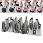 24Pc Icing Piping Nozzles Tips Cake Sugarcraft Pastry Decor Baking Tools Kits ET