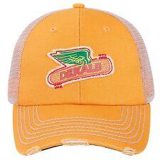 DEKALB SEED Yellow Vintage Trademark Logo Cap Hat New Ballcap Corn Distressed
