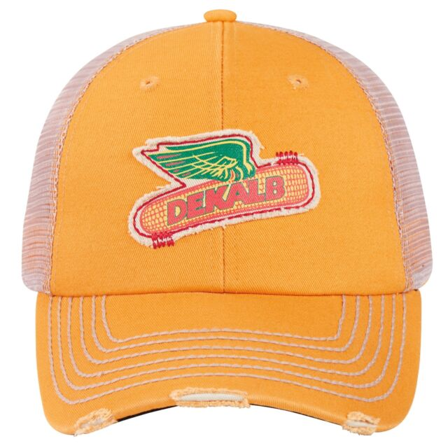 8e82279f2ed DEKALB SEED Yellow Vintage Trademark Logo Cap Hat New Ballcap Corn  Distressed