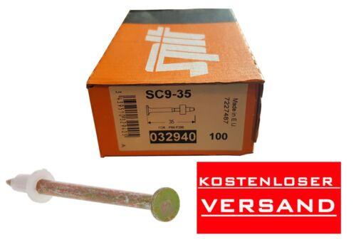 p60-p200 NEUF neuf dans sa boîte Clous Boulon SPIT sc9-35 ongles 032940 100st