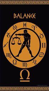 Serviette-de-plage-Drap-de-bain-Signe-du-Zodiaque-astrologique-Balance-Jacquard