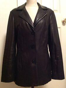 AVANTI New York Women's Soft Leather Coat / Jacket ~ SIZE SMALL Black