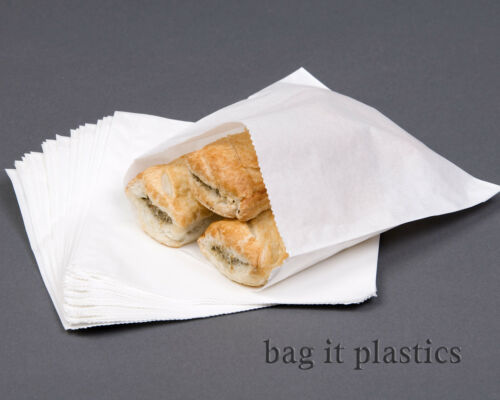 WHITE GREASEPROOF PAPER BAGS GREASE PROOF SANDWICH BAG SUITABLE FOR FOOD USE