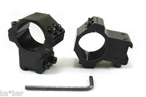 25mm-X-11mm-1-034-X-3-8-034-M-Inch-Mount-Scope-Sight-Ring-Base-MID-PROFILE-Airsoft