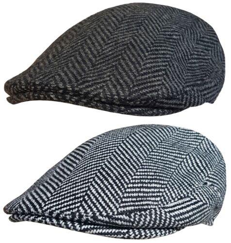 Mens Boys Flat Cap Cap Herringbone Design Newsboy Hat Baker Boy Peaky Blinders